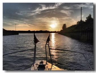 Die Fahrt in den Sonnenuntergang...