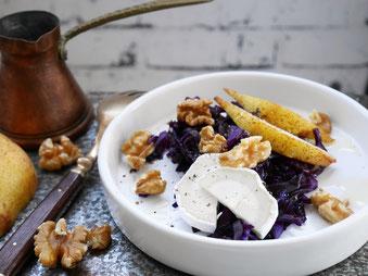 Rotkrautsalat / Birne / Ziegenkäse