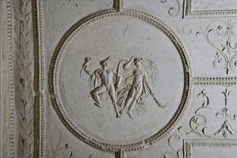 Dettaglio della decorazione del sepolcro dei Valeri (foto Soprintendenza Speciale Beni Archeologici di Roma)