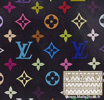 2002 Multicolore Noir - PVC louis vuitton trunk malle prix