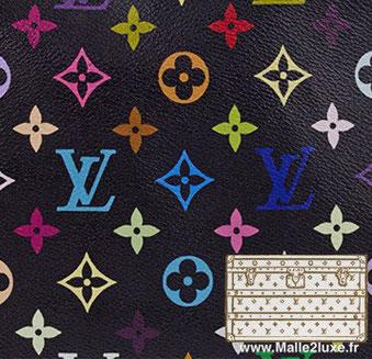 2002 Multicolore Noir - PVC louis vuitton trunk malle prix