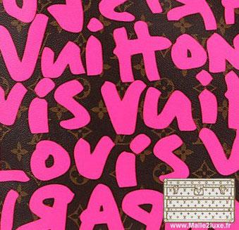 Graffiti  Stephen sprouse (1953 / 2004) malle vuitton trun