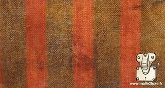 Toile rayée brun et rouge louis vuitton tissée