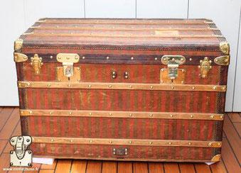 1872 Toile rayée - Tissée trunk malle louis vuitton