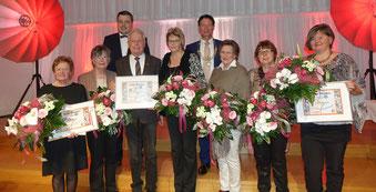 Freiwilligen Agentur Neumarkt sucht Stille Helden. Auf dem Foto die Preisträger von 2018; Foto: Stadt Neumarkt