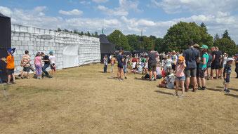 Über 450 Teilnehmer zählt das Diözesan-Zeltlager der Pfadfinder auf dem Willy-Brandt-Zeltlagerplatz in Reinwarzhofen bei Thalmässing. pde-Foto: Bernhard Löhlein