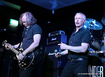 Seit Jahrzehnten ein Gespann: Sänger Danny Bowes und Luke Morley