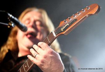 Haynes setzt vor allem auf Gibson-Gitarren.