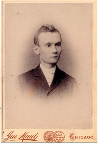 Reinhold Burger in Chicago um 1891 bei seiner zweiten USA Reise