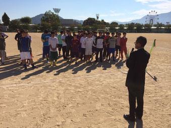サッカーフェスタin越前 開会式