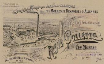 Société Anonyme des Distilleries René Colette. Source : Archives du travail