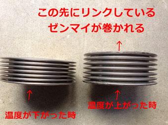 ATMOSの心臓部 金属製ベローズ