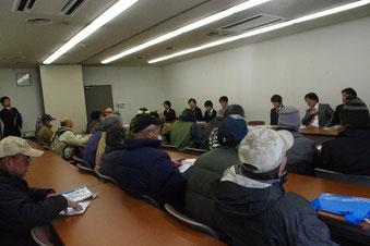 「仕事を出せ」と厚生労働省を追及する山谷労働者(1月6日)