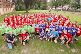 Über 120 JSG'ler liefen beim  diesjährigen Widufixlauf in Spenge mit.