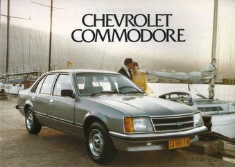 chevrolet commodore - wissenswertes über den opel commodore c