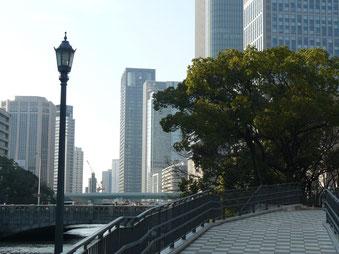 中の島公園、淀屋橋