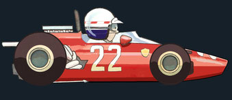 Mike Parkes by Muneta & Cerracín - Ferrari 312