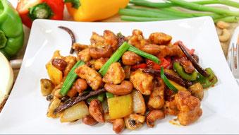 Ricetta Gai Pad Med Mamuang, pollo con anancardi