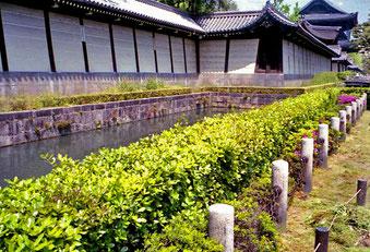 an der Stadtmauer von Kyoto