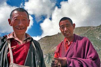 ein einfacher Pilger würde einen Lama nie ansprechen