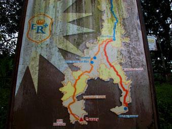 zwei Routen führten zu den Goldminen