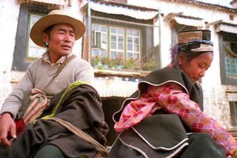 diese Familie kam aus Zaskar - von Lhasa 2.500 km entfernt