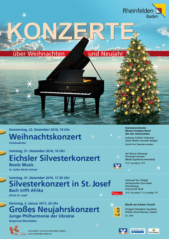 Weihnachtskonzert Plakat
