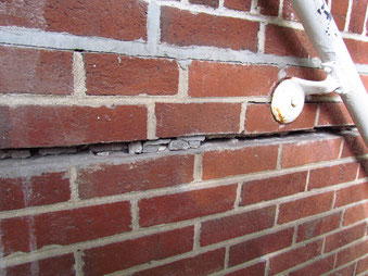 Gaps in mortar need repaired before winter