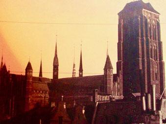 historisches Bild der gotischen Marien-Basilika