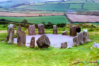 The Drombeg Stone Circle in County Cork, Ireland.