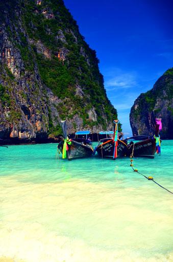 Thailand Phi Phi Island Maya Beach Longboat