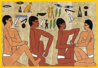 Lámina egipcia Reflexología podal Herbolario Alquimista Arrecife Lanzarote