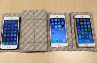 ☆坂部禮さんのiPhone 6s Plusの手製の収納袋。