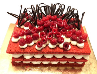 dolce red velvet di compleanno