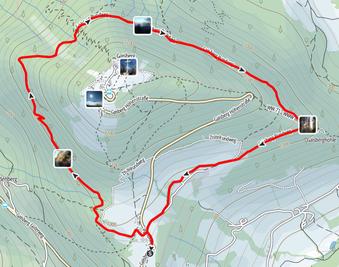 Route rundum den Gaisberg bei Salzburg