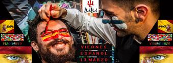 Venerdì erasmus al Lulu pub - Viernes espanol paint your flag