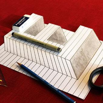 Lettering Tutorial: optische Illusion gestalten - nur mit Linien hat man das Gefühl dein Buchstabe schwebt