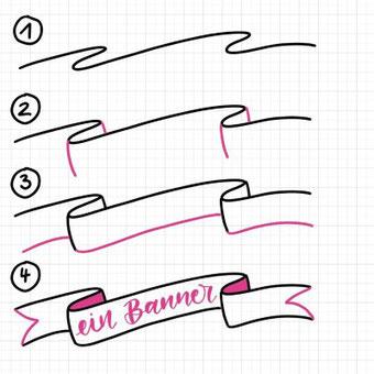 Anleitung: wie zeichne ich verschiedene Banner?