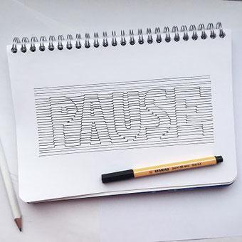 Handlettering: Eine Anleitung wie du 3D Lines in dein Lettering integrierst