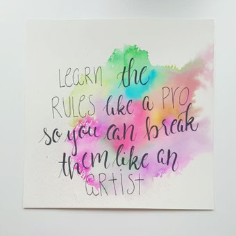 DIY Anleitung für einen Lettering Hintergrund: Watercolor Hintergrund