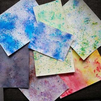 DIY Anleitung wie du mit Brushos ganz einfach Hintergründe für deine Letterings oder Karten gestaltest