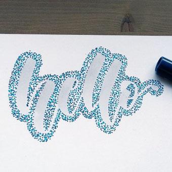 hello - Anleitung für ein Punkte Lettering - verleihe deinem Lettering das gewisse Etwas