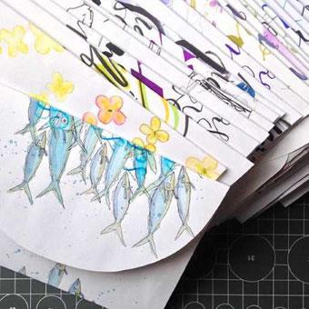 DIY Briefumschlag selber machen aus Schmierpapier