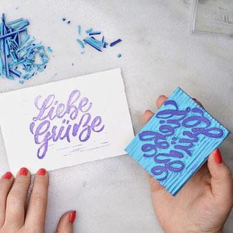 DIY Anleitung: So einfach kannst du aus deinem Lettering einen Stempel schnitzen