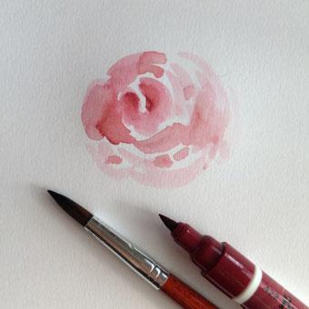 Du suchst Verzierungen für dein Lettering? Lerne in dieser Anleitung wie du Rosen malen kannst