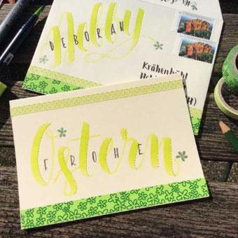 Gestalte eine Karte passend zum Briefumschlag