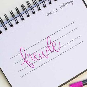 Handlettering: Eine Anleitung zum Bounce Lettering - so tanzen deine Buchstaben