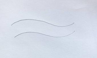 Lettering Anleitung für ein Wellenbild - Schritt 2