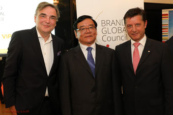 Brand Global Council 2017_Gerald Ganzger, Rechtsanwalt, Pingjun Liu, CCBD, Gerhard Hrebicek, European Brand Institute