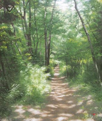 「森が響く」 F8 油彩・キャンバス